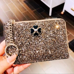 Kate Spade Odette Glitter Medium L-zip Cardholder
